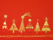 cristmas tapetują czerwień Fotografia Royalty Free