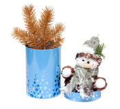 Cristmas toy cylindrical box Royalty Free Stock Image