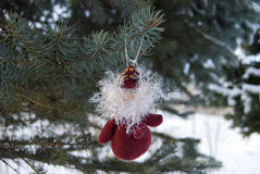 Cristmas toy on the tree Royalty Free Stock Photography