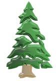 Cristmas tree. 3D illustration vector illustration