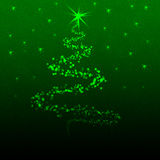 Cristmas tree. A cristmas tree illustration in green Stock Photos