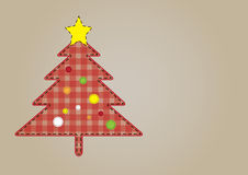 Cristmas Tree Creation. Vector Christmas tree rounded by dashed lines.Red and pink inner pattern Royalty Free Stock Photos