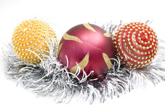 Cristmas tree decorations Royalty Free Stock Image