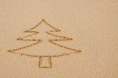 Cristmas tree drawing . Stock Image