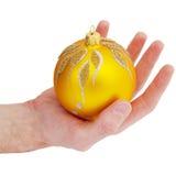 Cristmas tree gold ball Stock Photos