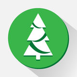 Cristmas tree icon great for any use. Vector EPS10. Stock Photo