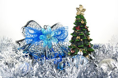 Cristmas tree and New Year toys Stock Images