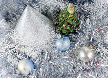 Cristmas tree and New Year toys Stock Photography
