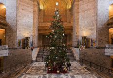 Cristmas Tree. Olympia, WA - December, 6 2015. The main Christmas tree in WA is in State Capitol. Stock Image