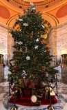 Cristmas Tree. Olympia, WA - December, 6 2015. The main Christmas tree in WA is in State Capitol. Royalty Free Stock Photos