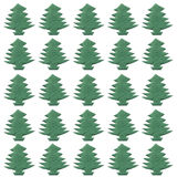 Cristmas tree paper cutting patterns Stock Images