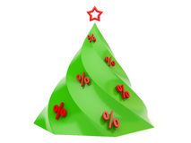 Cristmas tree with sale Stock Photography