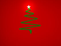 Cristmas tree with star. For greeting card Stock Image