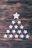 Cristmas tree stars Royalty Free Stock Images