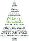 Cristmas-tree vector. Green cristmas-tree vector on white background Royalty Free Stock Photo