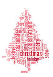 Cristmas tree word cloud Stock Images