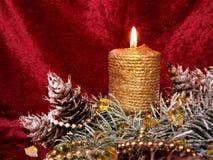 cristmas świec Obrazy Royalty Free