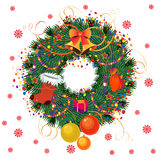 Cristmas Wreath. Christmas wreath with space for text Royalty Free Stock Images