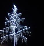 Cristmasboom bij nacht royalty-vrije stock afbeeldingen