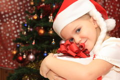 cristmasflicka Royaltyfri Bild