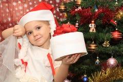 cristmasflicka Royaltyfri Foto