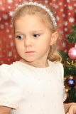 cristmasflicka Royaltyfri Fotografi