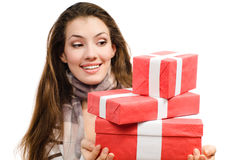 Cristmass presents Royalty Free Stock Photography