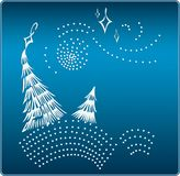 cristmastrees Arkivbilder