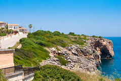cristo地中海波尔图岩石海岸 免版税库存图片