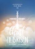 Cristo è aumentato, modello religioso del manifesto di Pasqua illustrazione di stock