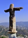 Cristo acima de Taxco fotos de stock royalty free