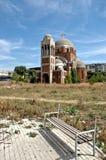 Cristo a catedral do salvador em Pristina, Kosovo Fotografia de Stock Royalty Free
