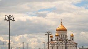 Cristo a catedral do salvador em um fundo das nuvens Foto de Stock