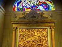 Cristo che porta signora trasversale della basilica del rosario Fatima Portugal Immagini Stock Libere da Diritti
