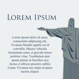 Cristo da estátua de Rio de janeiro do vetor Fotos de Stock