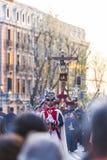Cristo de los Alabarderos, na procissão da Semana Santa em louco Imagens de Stock Royalty Free