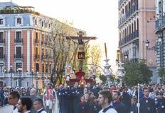 Cristo de los Alabarderos, na procissão da Semana Santa em louco Fotografia de Stock Royalty Free