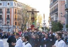 Cristo de los Alabarderos, na procissão da Semana Santa em louco Foto de Stock Royalty Free
