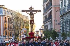 Cristo de los Alabarderos, na procissão da Semana Santa em louco Fotos de Stock