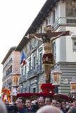 Cristo de los Alabarderos, na procissão da Semana Santa em louco Fotografia de Stock