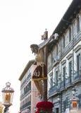 Cristo de los Alabarderos, na procissão da Semana Santa em louco Imagens de Stock