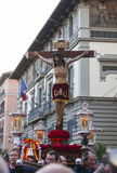 Cristo de los Alabarderos, in the procession of Holy Week in Mad Royalty Free Stock Image