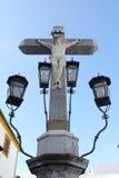 Cristo de los Faroles i Córdoba Arkivfoto