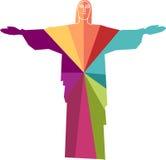 Cristo del ejemplo de Rio de Janeiro Imágenes de archivo libres de regalías