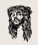 Cristo dirige il disegno di schizzo, progettazione di vettore di arte Fotografia Stock