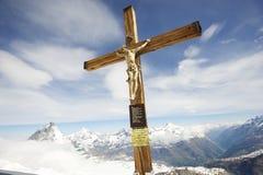 Cristo do Matterhorn Fotos de Stock