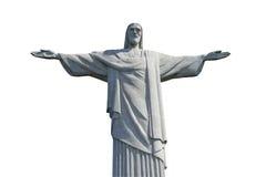 Cristo el redentor aislado en el fondo blanco Imágenes de archivo libres de regalías