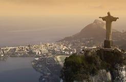 Cristo el redentor - Rio de Janeiro - el Brasil Fotografía de archivo