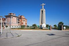 Cristo el rey Monument en Portugal Imágenes de archivo libres de regalías