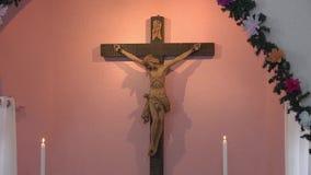 Cristo en los crosss almacen de metraje de vídeo